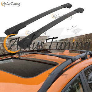 Fit For 2013 2020 Subaru Xv Crosstrek Cross Bars Aluminum Black Roof Racks