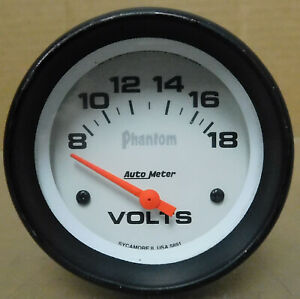 Auto Meter 5891 Phantom Voltmeter 8 18 Volts Analog Electrical 2 5 8