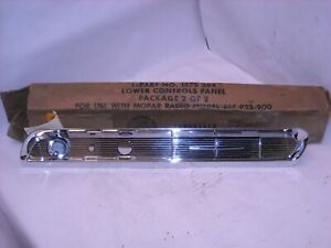 Mopar Nos 1955 1956 Dodge Coronet Chrome Dash Panel Louver 1575384