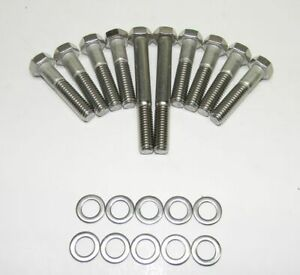 Ford Fe 390 428 Edelbrock Victor Intake Manifold Bolts Stainless Steel New