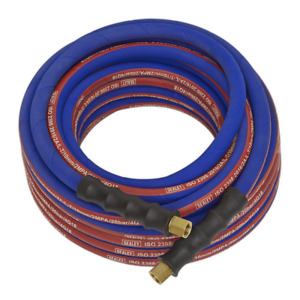 Sealey Air Hose 10m X 8mm With 1 4 bsp Unions Extra Heavy duty