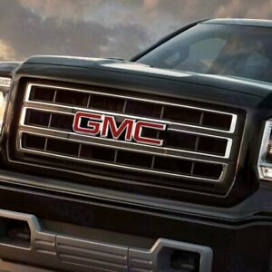 Front Grill Grille Emblem Badge Red For 2008 2010 Gmc Sierra 1500 2500hd 3500hd