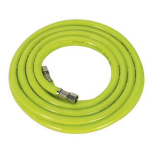 Sealey Air Hose High Visibility 5m X 8mm With 1 4 bsp Unions