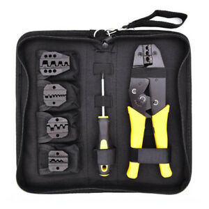 Wire Crimper Set Decrustation Engineering Ratchet Terminal Crimping Plier Tools