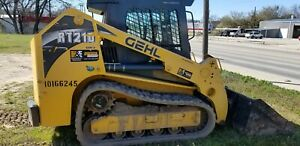 Enclosed Cab Air And Heat Gehl Rt210 Skid Steer Loader Clean Machine Runs Good