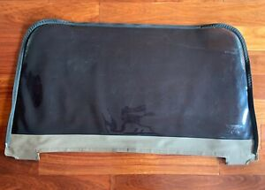 1997 2006 Jeep Wrangler Soft Top Rear Tinted Window Replacement Dark Tan Used