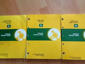 3 John Deere 5200 5500 7200 7800 Tractors Service Pricing Guides Oem 3