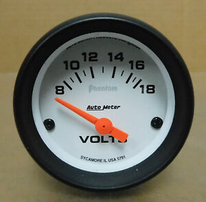 Auto Meter 5791 Phantom Voltmeter 8 18 Volts Analog Electrical 2 1 16