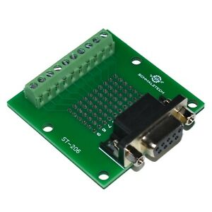 Db9 Male D sub 9 Pin Solderless Breakout Board To Screw Terminals St 207