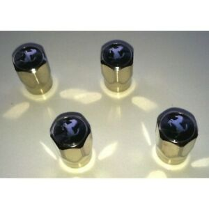 Ferrari Black Tire Hexagonal Valve Caps Kit 70002214