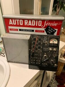 Vis u all Auto Radio Service Station From A Store tube Tester Model V101 Rare