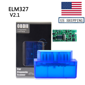 Usa Stock Elm327 V2 1 Obd2 Scanner Bluetooth Car Tool For Android Code Reader