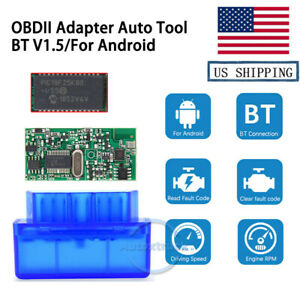 Usa Warehouse Bluetooth V2 1 Obd2 Code Reader Scanner Car Diagnostic For Android