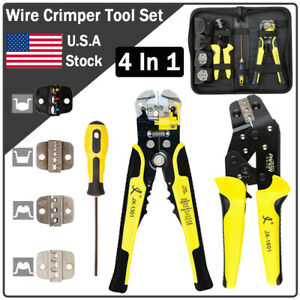 4 In 1 Wire Crimpers Ratcheting Terminal screwdiver stripper Plier Cord End Tool