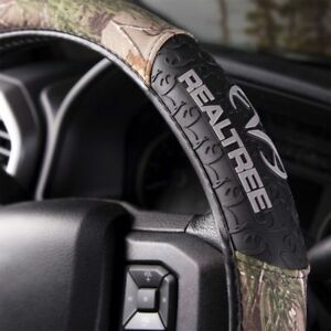 Realtree Camo Steering Wheel Cover Rubber Molded Grip