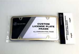 genuine Curved Stainless Steel License Plate Frame For Mercedes E G S Ml Gl