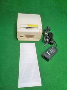 Star Tsp800 White Pos Thermal Wide Receipt Printer Usb Port W Power Adapter