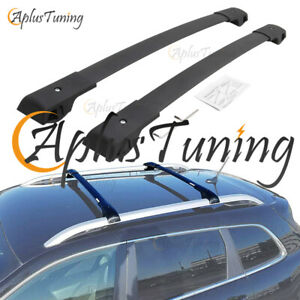 Fit For Jeep Cherokee 2014 2019 Black Cross Bars Crossbars Roof Rack Aluminum