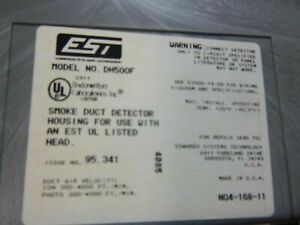New Edwards Est Dh500f 2551f Hr Duct Detector Housing Smoke 2 Available