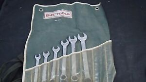 S K Wayne Tools No 1713 3 8 11 16 Combination Wrench Set W Pouch Exc