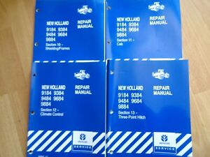 4 New Holland 9184 9884 Tractor Repair Manual Sections 10 13 Climate 3pt Cab