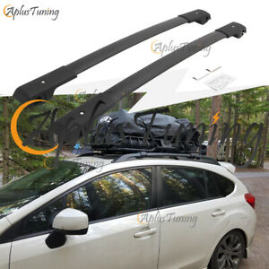 Fit For 2013 2017 Subaru Crosstrek 2012 2016 Impreza Crossbar Roof Rack Black
