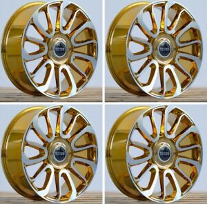 22 Range Rover Autobiography Supercharge Forged New Set Of 4 Et 45 Gold Chrome