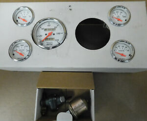 Auto Meter Arctic White Gauge Set Speedo Oil Press Water Temp Volt Fuel Level