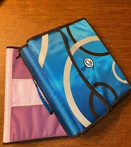 2 Zipper Binders Bundle Deal Blue Case it 3 inch Zipper Storage Binder Purple