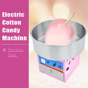 Commercial Electric Pink Cotton Candy Machine Candy Floss Maker Party Carnival