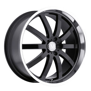 1 New Tsw Mandrus Wilhelm Wheel Rim 20x8 5 5x112 Gloss Black W Mirror Cut Lip