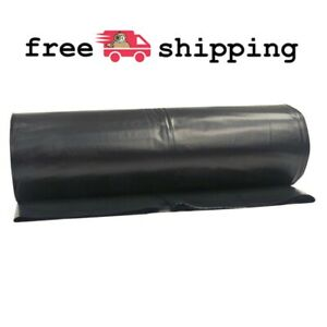 Black Plastic Sheeting Roll Painting Barrier Cover Haunted House Tarp 10x100 Ft
