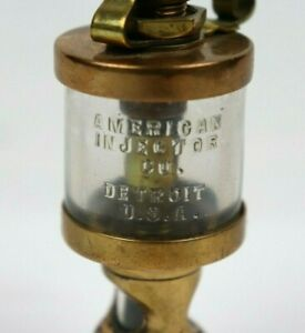 Vintage Brass Oiler American Injector Co Detroit Hit Miss