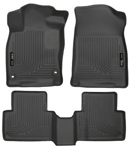 Husky Front 2nd Seat Floor Liners Fits 2017 2018 Honda Civic Type R 98461