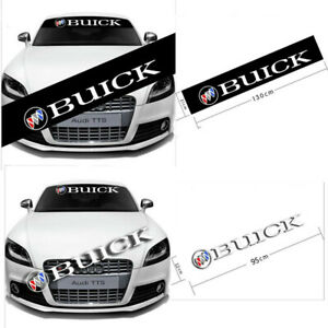Car Front Rear Windshield Banner Decal For Buick Vinyl Window Reflective Sticker