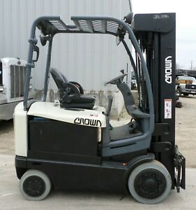 Crown Fc4520 50 2014 5000 Lbs Capacity 4 Wheel Electric Forklift