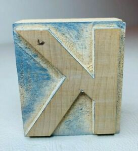 Letter K Letterpress Wood Print Type Multiples Available 2 X 1 3 4 Inches