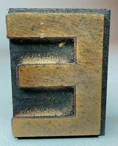 Letter E Letterpress Wood Print Type Multiples Available 2 X 1 1 2 Inches