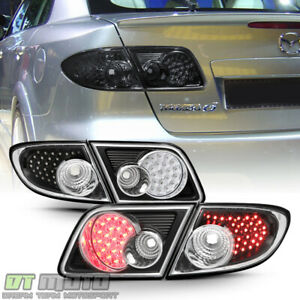 2003 2008 Mazda6 4 Door Sedan Black Led Tail Lights Brake Lamps Left Right 4pcs