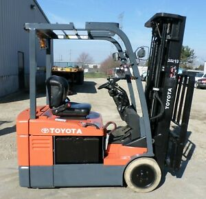Toyota 7fbeu18 2005 3500 Lbs Capacity Great 3 Wheel Electric Forklift