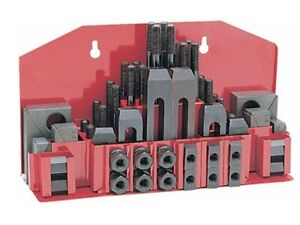 52 Pc Clamping Kit Clamp 3 8 T slot With 5 16 18 Studs For Bridgeport Mill