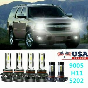 6x 6000k Led Headlight Fog Light Bulbs Mini For Chevy Suburban Tahoe 2007 2014
