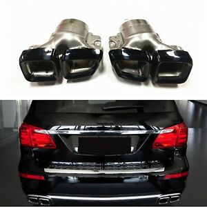 Black Exhaust Pipe Tip For Mercedes Benz Ml W166 Gl63 Amg X166 Stainless Steel M