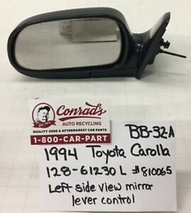 Used Vintage Toyota Corolla 1994 Left Side View Mirror drivers Quality
