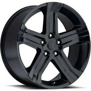 4 22x9 Gloss Black Wheel Factory Reproductions Fr69 Dodge Ram Rt Replica Wh