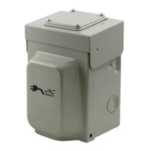 Temporary Generator Transfer Switch 30amp Locking 4 prong L14 30 Power Inlet Box