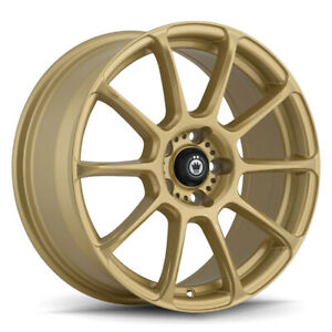 4 New 16x7 5 Konig Runlite Gold Wheel Rim 5x114 3 Et35 R176514357