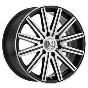 4 New 18x8 Mandrus Stark Gunmetal W Mirror Cut Wheel Rim 6x130 Et52 6 130 18 8