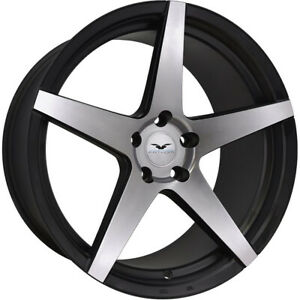 4 20x10 Machined Black Wheel Fathom Stern 5x4 5 38