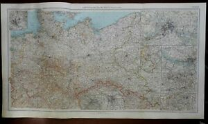 Nazi Germany 3rd Reich Cologne Berlin 1936 Large Detailed Italian Color Map